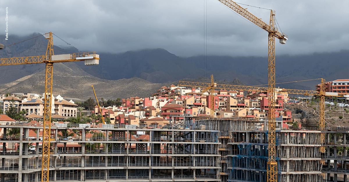 Construção Civil cresce pela terceira vez consecutiva
