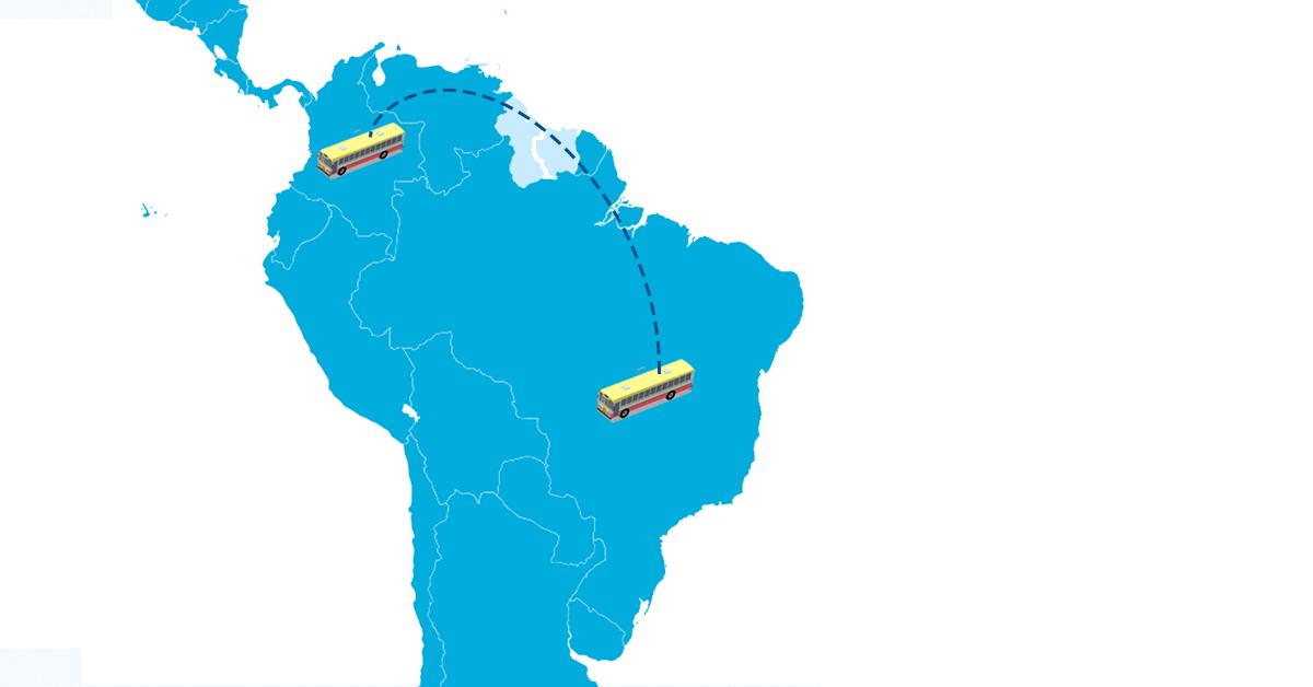 Colômbia renova frota com ônibus brasileiro