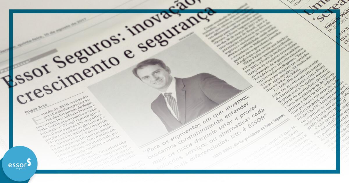 Inovação da ESSOR Seguros é destaque na mídia!